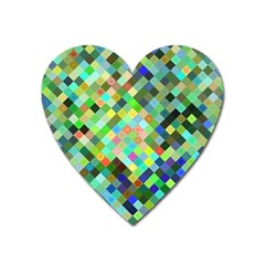 Pixel Pattern A Completely Seamless Background Design Heart Magnet by Nexatart