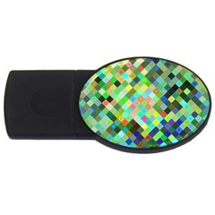 Pixel Pattern A Completely Seamless Background Design Usb Flash Drive Oval (2 Gb) by Nexatart