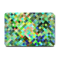 Pixel Pattern A Completely Seamless Background Design Small Doormat  by Nexatart