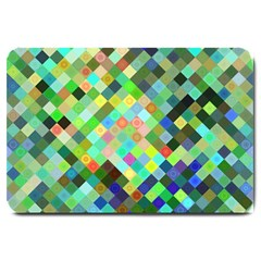 Pixel Pattern A Completely Seamless Background Design Large Doormat  by Nexatart