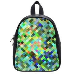 Pixel Pattern A Completely Seamless Background Design School Bags (small)  by Nexatart
