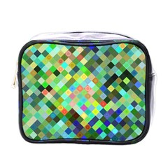 Pixel Pattern A Completely Seamless Background Design Mini Toiletries Bags by Nexatart
