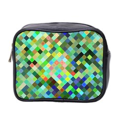 Pixel Pattern A Completely Seamless Background Design Mini Toiletries Bag 2 Side by Nexatart