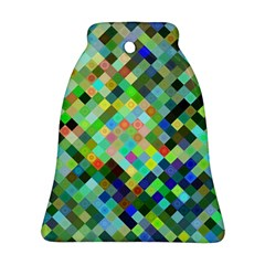 Pixel Pattern A Completely Seamless Background Design Bell Ornament (two Sides) by Nexatart