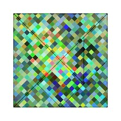 Pixel Pattern A Completely Seamless Background Design Acrylic Tangram Puzzle (6  X 6 ) by Nexatart