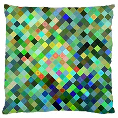 Pixel Pattern A Completely Seamless Background Design Large Cushion Case (two Sides) by Nexatart