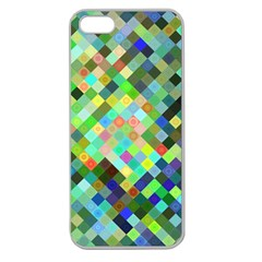 Pixel Pattern A Completely Seamless Background Design Apple Seamless Iphone 5 Case (clear) by Nexatart