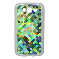 Pixel Pattern A Completely Seamless Background Design Samsung Galaxy Grand Duos I9082 Case (white) by Nexatart