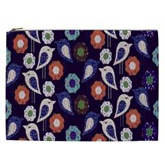 Cute Birds Seamless Pattern Cosmetic Bag (xxl)  by Nexatart