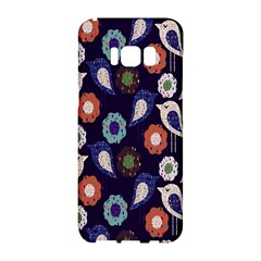 Cute Birds Seamless Pattern Samsung Galaxy S8 Hardshell Case
