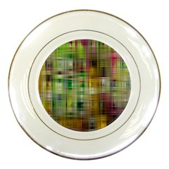 Woven Colorful Abstract Background Of A Tight Weave Pattern Porcelain Plates by Nexatart