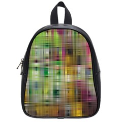 Woven Colorful Abstract Background Of A Tight Weave Pattern School Bags (small)  by Nexatart