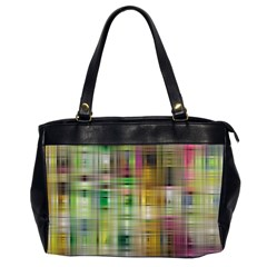 Woven Colorful Abstract Background Of A Tight Weave Pattern Office Handbags (2 Sides)  by Nexatart