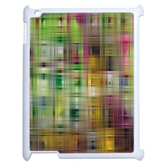 Woven Colorful Abstract Background Of A Tight Weave Pattern Apple Ipad 2 Case (white) by Nexatart