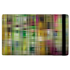 Woven Colorful Abstract Background Of A Tight Weave Pattern Apple Ipad 2 Flip Case by Nexatart