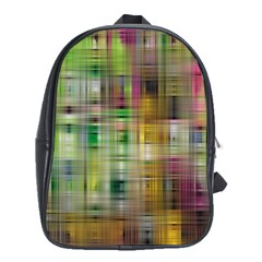 Woven Colorful Abstract Background Of A Tight Weave Pattern School Bags (xl)  by Nexatart