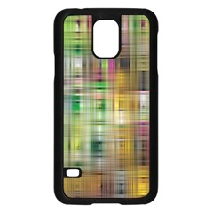 Woven Colorful Abstract Background Of A Tight Weave Pattern Samsung Galaxy S5 Case (black) by Nexatart