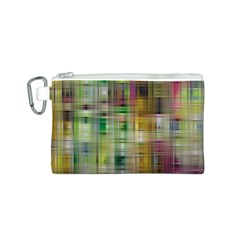 Woven Colorful Abstract Background Of A Tight Weave Pattern Canvas Cosmetic Bag (s) by Nexatart