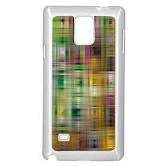 Woven Colorful Abstract Background Of A Tight Weave Pattern Samsung Galaxy Note 4 Case (white) by Nexatart
