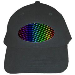 Digitally Created Halftone Dots Abstract Black Cap by Nexatart