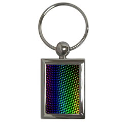 Digitally Created Halftone Dots Abstract Key Chains (rectangle)  by Nexatart