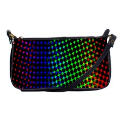 Digitally Created Halftone Dots Abstract Shoulder Clutch Bags by Nexatart