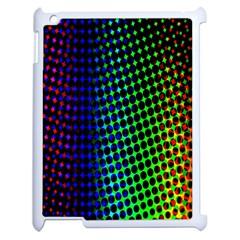 Digitally Created Halftone Dots Abstract Apple Ipad 2 Case (white) by Nexatart
