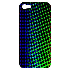 Digitally Created Halftone Dots Abstract Apple Iphone 5 Hardshell Case by Nexatart