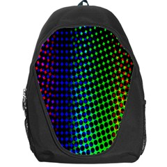 Digitally Created Halftone Dots Abstract Backpack Bag by Nexatart