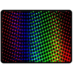 Digitally Created Halftone Dots Abstract Double Sided Fleece Blanket (large)  by Nexatart