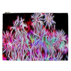 Fractal Fireworks Display Pattern Cosmetic Bag (xxl)  by Nexatart