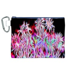 Fractal Fireworks Display Pattern Canvas Cosmetic Bag (xl) by Nexatart