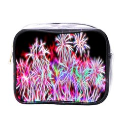 Fractal Fireworks Display Pattern Mini Toiletries Bags by Nexatart