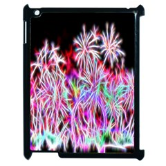 Fractal Fireworks Display Pattern Apple Ipad 2 Case (black) by Nexatart