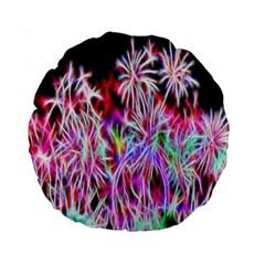 Fractal Fireworks Display Pattern Standard 15  Premium Round Cushions