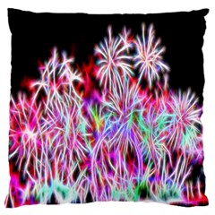 Fractal Fireworks Display Pattern Large Flano Cushion Case (one Side) by Nexatart