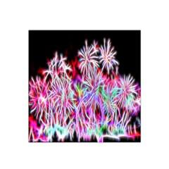 Fractal Fireworks Display Pattern Satin Bandana Scarf by Nexatart