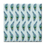 Background Of Beautiful Peacock Feathers Tile Coasters