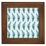 Background Of Beautiful Peacock Feathers Framed Tiles