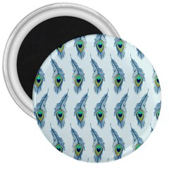 Background Of Beautiful Peacock Feathers 3  Magnets by Nexatart