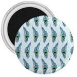 Background Of Beautiful Peacock Feathers 3  Magnets