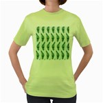 Background Of Beautiful Peacock Feathers Women s Green T-Shirt
