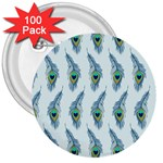 Background Of Beautiful Peacock Feathers 3  Buttons (100 pack)