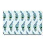 Background Of Beautiful Peacock Feathers Magnet (Rectangular)