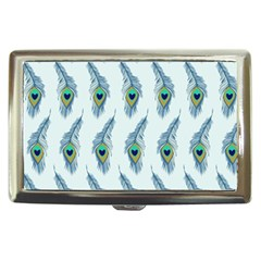 Background Of Beautiful Peacock Feathers Cigarette Money Cases by Nexatart