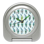 Background Of Beautiful Peacock Feathers Travel Alarm Clocks