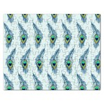 Background Of Beautiful Peacock Feathers Rectangular Jigsaw Puzzl
