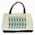 Background Of Beautiful Peacock Feathers Basic Tote Bag (Two Sides)