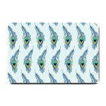 Background Of Beautiful Peacock Feathers Small Doormat