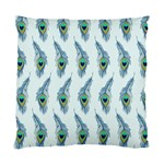 Background Of Beautiful Peacock Feathers Standard Cushion Case (One Side)